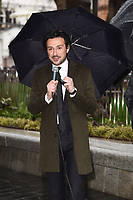 """Alex Zane at the launch of """"Scenes in the Square"""" statue trail in Leicester Square, London.<br /> <br /> ©Ash Knotek  D3558 27/02/2020"""