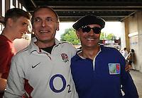 English and French fans enjoying the build up - 15/08/2015 - Twickenham Stadium - London <br /> Mandatory Credit: Rob Munro/Stewart Communications