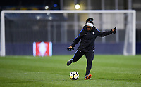 Columbus, Ohio - Thursday March 01, 2018: Crystal Dunn during a 2018 SheBelieves Cup match between the women's national teams of the United States (USA) and Germany (GER) at MAPFRE Stadium.