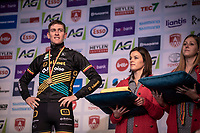 podium with bronze medal winner Toon Aerts (BEL/Telenet Baloise Lions) fans, <br /> <br /> Elite Men's Race <br /> Belgian National CX Championships<br /> Antwerp 2020