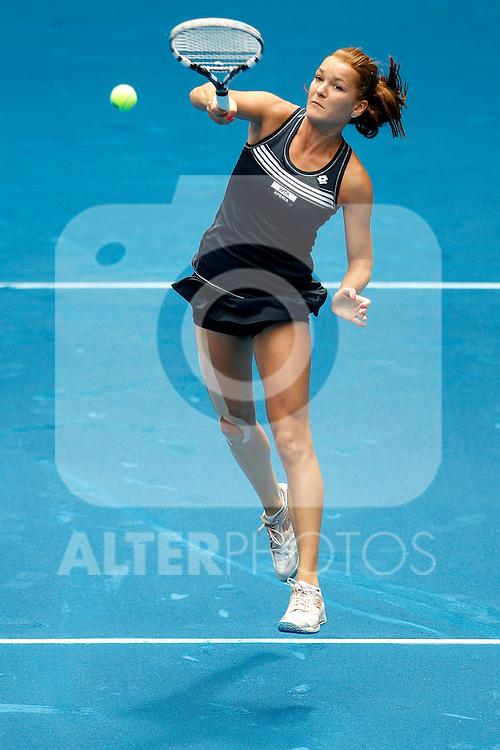 Poland's Agnieszka Radwanska during Mutua Madrid Open 2012 match on may 6th 2012...Photo: Cesar Cebolla / ALFAQUI