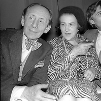 1978 FILE PHOTO<br /> New York City<br /> Vladimir Horowitz & wife at Studio 54<br /> Photo by Adam Scull-PHOTOlink.net