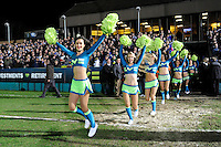 The LV= Girls provide the pre-match entertainment before the LV= Cup semi final match between Bath Rugby and Leicester Tigers at The Recreation Ground, Bath (Photo by Rob Munro, Fotosports International)