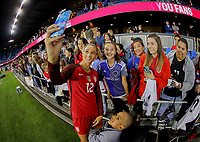 San Jose, CA - Sunday November 12, 2017: Lynn Williams, fans during an International friendly match between the Women's National teams of the United States (USA) and Canada (CAN) at Avaya Stadium.