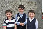 Pascal, Donal and Ciaran Henry Ayres at first communion in Slane..Picture:  www.newsfile.ie ..
