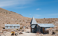 Cerro Gordo, a 19th century mining town in the Inyo Mountains near Keeler, California