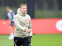14th September 2021: The  AXA Training Centre, Kirkby, Knowsley, Merseyside, England: Liverpool FC training ahead of Champions League game versus AC Milan on 15th September:  Liverpool assistant coach Pepijn Lijnders