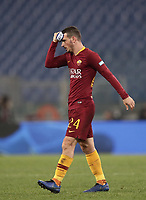 Football, Serie A: AS Roma - InterMilan, Olympic stadium, Rome, December 02, 2018. <br /> Roma's captain Alessandro Florenzi leaves the pitch at the end of the Italian Serie A football match between Roma and Inter at Rome's Olympic stadium, on December 02, 2018. The two teams draw 2-2.<br /> UPDATE IMAGES PRESS/Isabella Bonotto