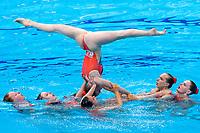 GREAT BRITAIN<br /> COSTELLO Millicent / DAVIES Isobel<br /> GUNN Daisy / HUGHES Cerys<br /> LARSEN Cerys / LLOYD Daniella<br /> SWATMAN Robyn / TURBERVILLE Laura<br /> Team Free Final<br /> Artistic Swimming<br /> Budapest  - Hungary  14/5/2021<br /> Duna Arena<br /> XXXV LEN European Aquatic Championships<br /> Photo Pasquale Mesiano / Deepbluemedia / Insidefoto