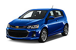 2019 Chevrolet Sonic LT-RS-Automatic Door Hatchback Angular Front stock photos of front three quarter view