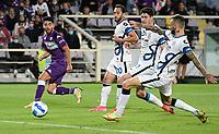 21nd September 2021; Artemio Franchi Stadium, Florence, Italy; Serie A championship football, AC Fiorentina versus Inter MIlan; Riccardo Sottil of AC Fiorentina shoot at goal