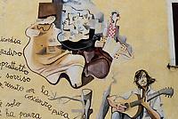 Orgosolo, Nuoro, 2 Gennaio 2018<br /> In onore di Fabrizio De Andrè.<br /> Il piccolo centro della Barbagia famoso per i dipinti che adornano le vecchie case del centro storico,e gli edifici di nuova costruzione, piazze e muri del paese. I Murales di Orgosolo narrano di storia, di politica, di vita quotidiana, e di tradizione e di Sardegna.