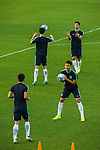 Players of the Korea Republic warm up during a training session ahead their 2018 FIFA World Cup Russia Final Qualification Round Group A match against Qatar at Suwon World Cup Stadium on 05 October 2016, in Suwon, Korea. Photo by Victor Fraile / Power Sport Images