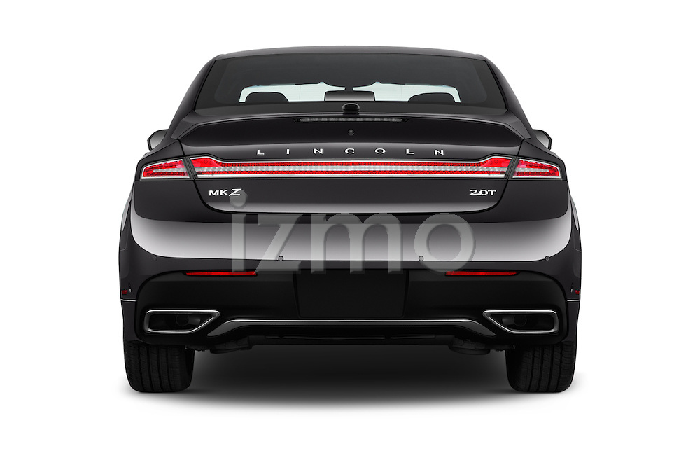 Straight rear view of 2018 Lincoln MKZ Select 4 Door Sedan Rear View  stock images