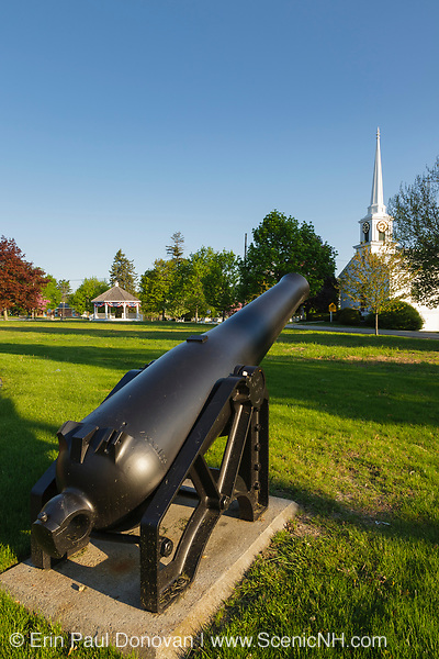 Old artillery at the Town Common in Hampton Falls, New Hampshire.