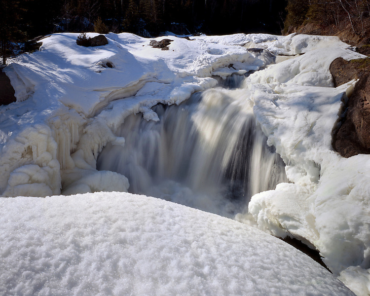 Brule River Upper Falls, George H. Crosby Manitou State Park, Minnesota, March, 1987