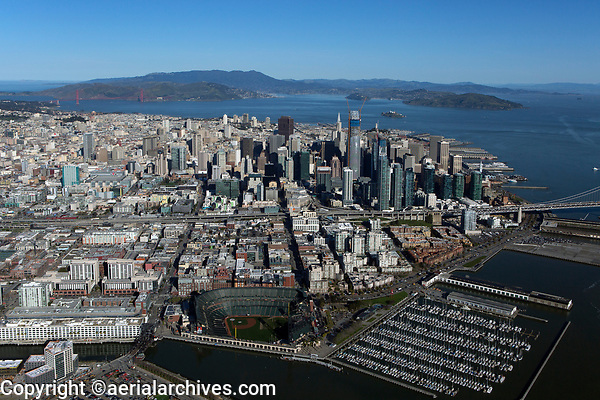aerial photograph AT&T Ball Park Giants Stadium San Francisco, California