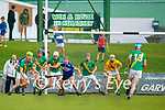 Flor McCarthy, Kilmoyley, in action against Cian Hussey, Saint Brendan's, during the County Senior hurling Final between Kilmoyley and Saint Brendan's at Austin Stack park on Sunday.