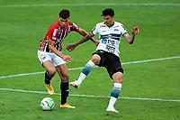 4th October 2020; Couto Pereira Stadium, Curitiba, Parana, Brazil; Brazilian Series A, Coritiba versus Sao Paulo;  Matheus Bueno of Coritiba and Vitor Bueno of Sao Paulo