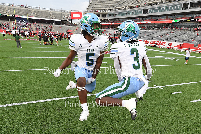 Tulane falls to Houston, 49-31, in football action at TDECU Stadium in Houston, Texas.