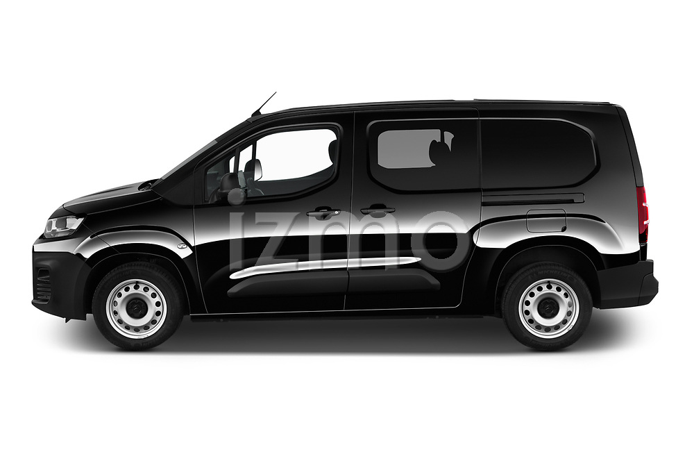 Car Driver side profile view of a 2020 Citroen Berlingo - 4 Door Car Van Side View