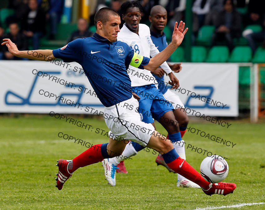 Soccer, UEFA U-17.France Vs. England.Raphael Calvet.Indjija, 03.05.2011..foto: Srdjan Stevanovic