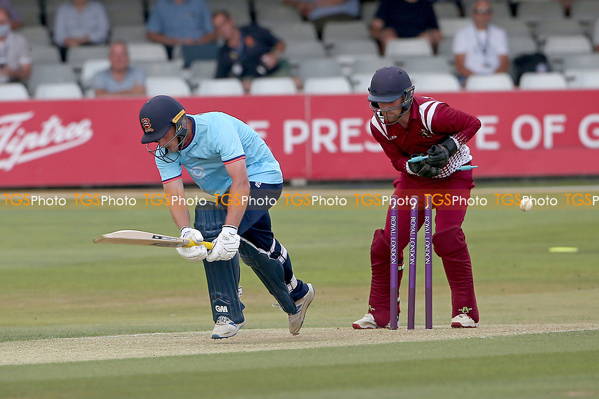 Tom Westley of Essex is bowled out by Harrison Craig during Essex Eagles vs Cambridgeshire CCC, Domestic One-Day Cricket Match at The Cloudfm County Ground on 20th July 2021