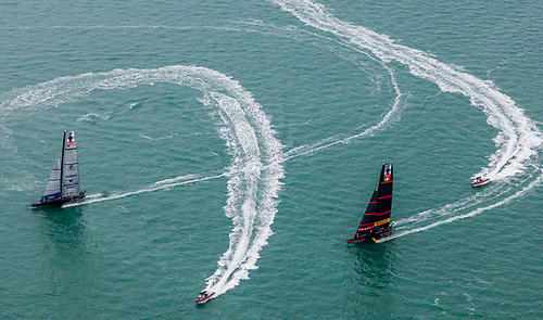 New York Yacht Club American Magic beats Luna Rossa Prada Pirelli Photo: COR36 / Studio Borlenghi