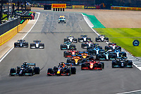 Start of the race, 33 VERSTAPPEN Max (nld), Red Bull Racing Honda RB16B, 44 HAMILTON Lewis (gbr), Mercedes AMG F1 GP W12 E Performance, action during the Formula 1 Pirelli British Grand Prix 2021, 10th round of the 2021 FIA Formula One World Championship from July 16 to 18, 2021 on the Silverstone Circuit, in Silverstone, United Kingdom - <br /> Formula 1 GP Great Britain Silverstone 18/07/2021<br /> Photo DPPI/Panoramic/Insidefoto <br /> ITALY ONLY
