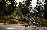 Alexey Lutsenko (KAZ/Astana) on the steep parts of the individual time trial up the infamous Planche des Belles Filles<br /> <br /> Stage 20 (ITT) from Lure to La Planche des Belles Filles (36.2km)<br /> <br /> 107th Tour de France 2020 (2.UWT)<br /> (the 'postponed edition' held in september)<br /> <br /> ©kramon