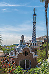 Gaudi's Parc Guell in Barcelona, Spain.<br />