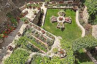 The garden of Roussanou Monastery in the Meteora Monastery complex in Greece