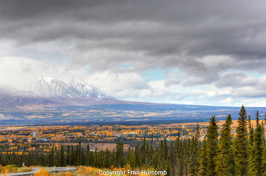 Haines Junction Yukon from Highway.