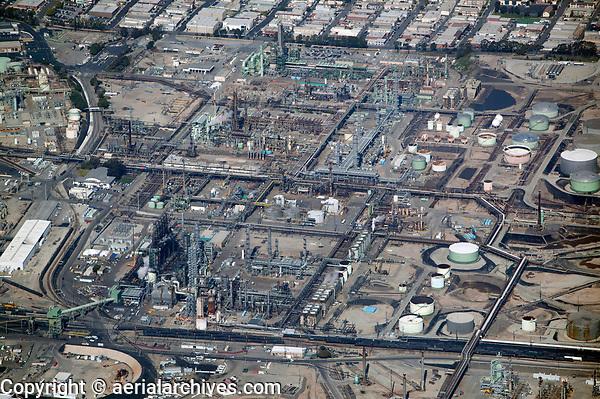 aerial photograph of Chevron Refinery, El Segundo, Los Angeles County, California