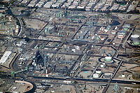 aerial photograph of Chevron Refinery, El Segundo, Los Angeles County, California