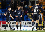 St Johnstone v Dundee….03.04.19   McDiarmid Park   SPFL<br />Ethan Robson at full time with Darren O'Dea and Jesse Curran<br />Picture by Graeme Hart. <br />Copyright Perthshire Picture Agency<br />Tel: 01738 623350  Mobile: 07990 594431