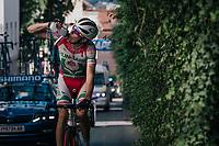 Dina Marton (HUN) hydrating<br /> <br /> MEN UNDER 23 ROAD RACE<br /> Kufstein to Innsbruck: 180 km<br /> <br /> UCI 2018 Road World Championships<br /> Innsbruck - Tirol / Austria