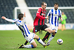Kilmarnock v St Johnstone...05.04.14    SPFL<br /> Dave Mackay is fouled by Vitalijs Maksimenko<br /> Picture by Graeme Hart.<br /> Copyright Perthshire Picture Agency<br /> Tel: 01738 623350  Mobile: 07990 594431