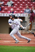 Kane County Cougars center fielder Jason Morozowski (9) during the first game of a doubleheader against the Cedar Rapids Kernels on May 10, 2016 at Perfect Game Field in Cedar Rapids, Iowa.  Kane County defeated Cedar Rapids 2-0.  (Mike Janes/Four Seam Images)