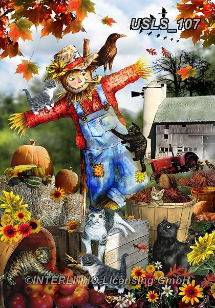 Lori, LANDSCAPES, LANDSCHAFTEN, PAISAJES, paintings+++++3-Scarecrow,USLS107,#l#, EVERYDAY