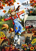Lori, LANDSCAPES, LANDSCHAFTEN, PAISAJES, paintings+++++3-Scarecrow,USLS107,#l#, EVERYDAY
