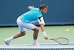 Stanislaus Wawrinka (SUI) takes the first set against Benjamin Becker (GER) 6-3