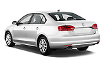 Rear three quarter view of a 2011 Volkswagen Jetta S Sedan