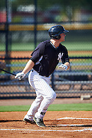 GCL Yankees East first baseman Ryan Krill (36) at bat during a game against the GCL Yankees West on August 3, 2016 at the Yankees Complex in Tampa, Florida.  GCL Yankees East defeated GCL Yankees West 12-2.  (Mike Janes/Four Seam Images)