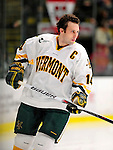 18 October 2009: University of Vermont Catamount forward Brian Roloff, a Senior from West Seneca, NY, warms up prior to a game against the Boston College Eagles at Gutterson Fieldhouse in Burlington, Vermont. The Catamounts defeated the Eagles 4-1 to open Vermont's America East hockey season. Mandatory Credit: Ed Wolfstein Photo