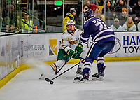 9 February 2019: University of Vermont Catamount Forward Alex Esposito, a Sophomore from West Haven, CT, in second period action against the University of New Hampshire Wildcats at Gutterson Fieldhouse in Burlington, Vermont. The Catamounts defeated the Wildcats 4-1 to split their 2-game Hockey East weekend series. Mandatory Credit: Ed Wolfstein Photo *** RAW (NEF) Image File Available ***