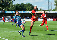 during the Sky Bet League 2 match between Crawley Town and Wycombe Wanderers at Broadfield Stadium, Crawley, England on 6 August 2016. Photo by Alan  Stanford / PRiME Media Images.