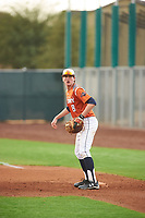 Kyle Rich (8) of KELLER High School in Keller, Texas during the Under Armour All-American Pre-Season Tournament presented by Baseball Factory on January 15, 2017 at Sloan Park in Mesa, Arizona.  (Zac Lucy/MJP/Four Seam Images)