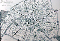 Paris: Eugene Henard's Plan, 1903-1909. Intention of permitting Grand Boulevards to penetrate to center. Everson, PARKS. Reference only.