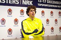 17-12-11, Netherlands, Rotterdam, Topsportcentrum, Persconferentie Robin Haase